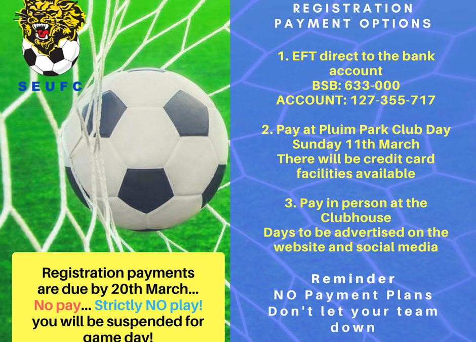 Registration Payment Options