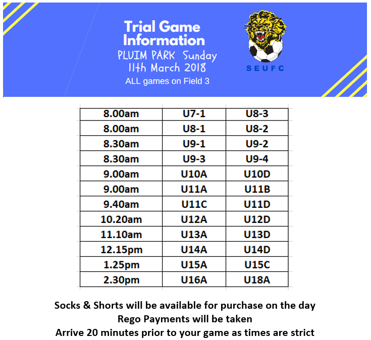 Trial Game Information