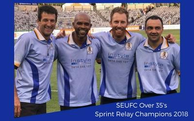 SEUFC Over 35's Sprint Relay Champions