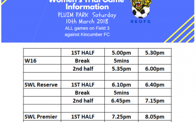 Womens Trial Game Information