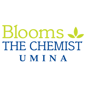 blooms the chemist umina logo map