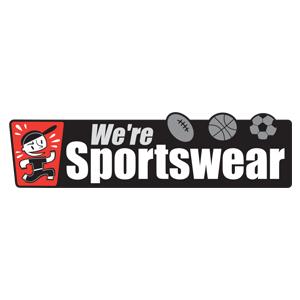 we're sporstwear logo