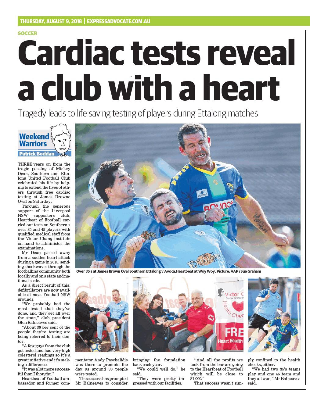Mickey Dean Memorial Heartbeat of Football Cardiac Testing Day
